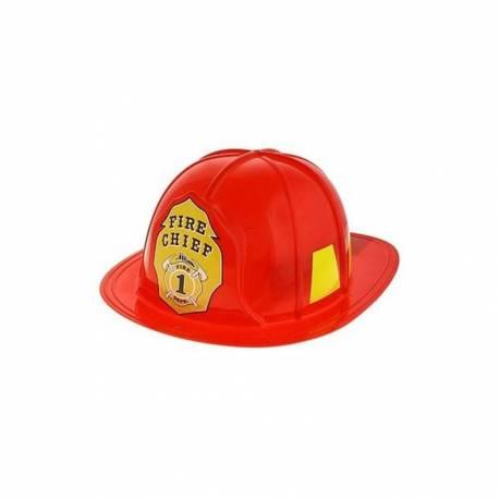 Odrasla gasilska čelada, rdeča