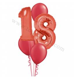 XXL dekoracija iz balonov 18 let, modra