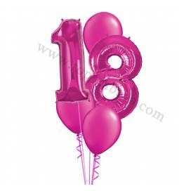 XXL dekoracija iz balonov 18 let, rdeča