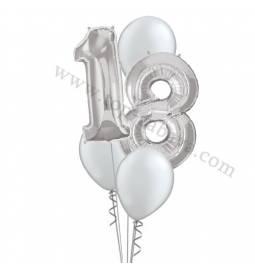 XXL dekoracija iz balonov 18 let, pink