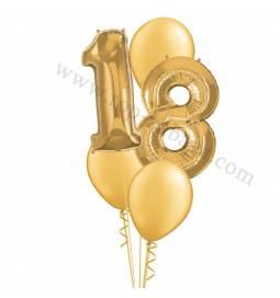 XXL dekoracija iz balonov 18 let, srebrna