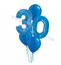XXL dekoracija iz balonov 18 let, zlata