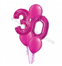 XXL dekoracija iz balonov 30 let, rdeča