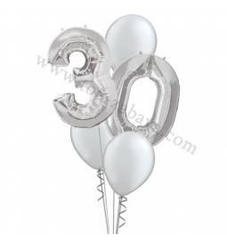 XXL dekoracija iz balonov 30 let, pink