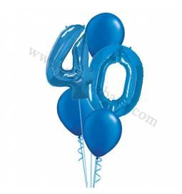 XXL dekoracija iz balonov 30 let, modra