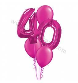 XXL dekoracija iz balonov 40 let, rdeča