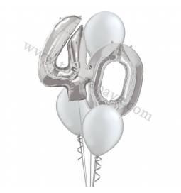 XXL dekoracija iz balonov 40 let, pink