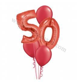 XXL dekoracija iz balonov 50 let, modra