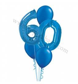 XXL dekoracija iz balonov 40 let, modra