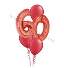 XXL dekoracija iz balonov 60 let, modra