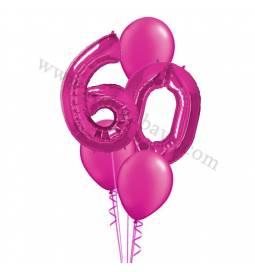 XXL dekoracija iz balonov 60 let, rdeča