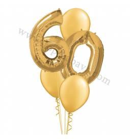 XXL dekoracija iz balonov 60 let, pink