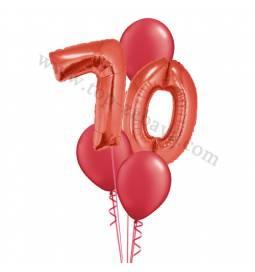 XXL dekoracija iz balonov 70 let, modra