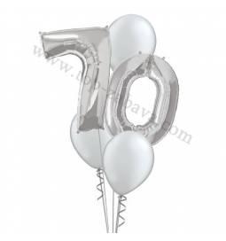 XXL dekoracija iz balonov 70 let, pink