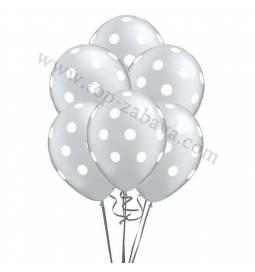 Dekoracija iz balonov Bele pike, pink 10/1