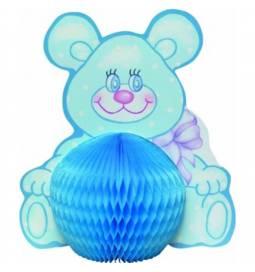 Namizna dekoracija za rojstvo Medvedek, moder