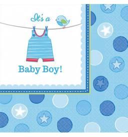 Serviete 33x33 cm, Baby Boy, modri 16/1