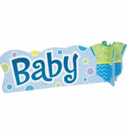 Namizna dekoracija Baby 3D, modra