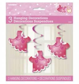 Viseča dekoracija Oblekice, pink