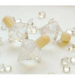 Poročni milni mehurčki, Kristal, ivory