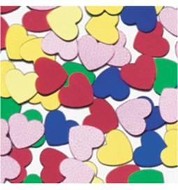 Poročni konfeti Srca, pisani