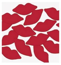 Poročni namizni konfeti Rdeče ustnice