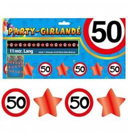 Girlanda Zvezdice in številke 40 let