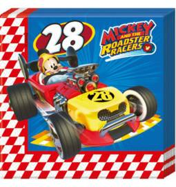 Serviete 33x33 cm, Mickey Racers 20/1