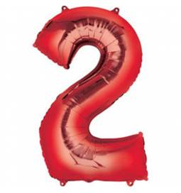 XXL balon številka 1, rdeča