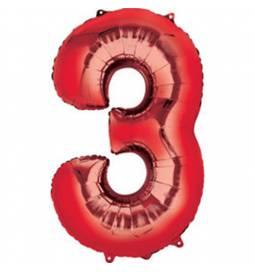 XXL balon številka 2, rdeča