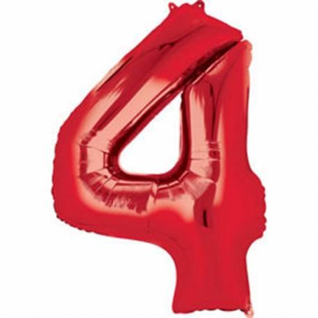 XXL balon številka 3, rdeča