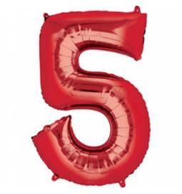 XXL balon številka 4, rdeča