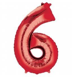 XXL balon številka 5, rdeča