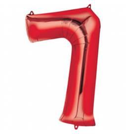 XXL balon številka 6, rdeča