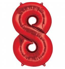 XXL balon številka 7, rdeča