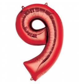 XXL balon številka 8, rdeča