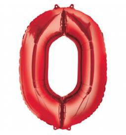 XXL balon številka 9, rdeča