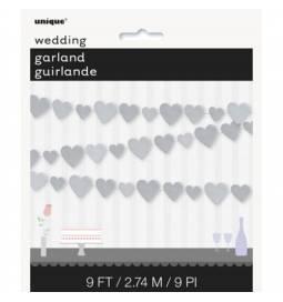 Poročna girlanda Srebrna srca