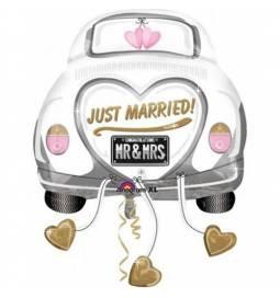 Folija balon Poročni avto
