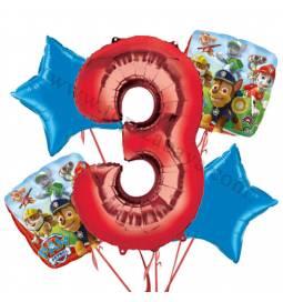 Paw Patrol balonska dekoracija, 2. rojstni dan