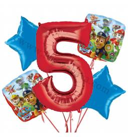 Paw Patrol balonska dekoracija, 4. rojstni dan
