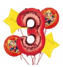 Gasilec Samo balonska dekoracija, 2. rojstni dan
