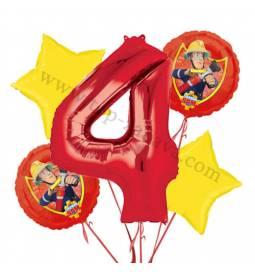 Gasilec Samo balonska dekoracija, 3. rojstni dan