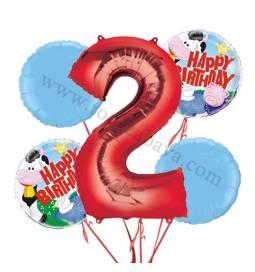 Kmetija balonska dekoracija, 1. rojstni dan