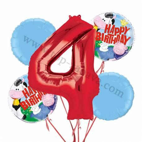 Kmetija balonska dekoracija, 3. rojstni dan