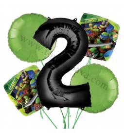 Ninja Želve balonska dekoracija, 1. rojstni dan