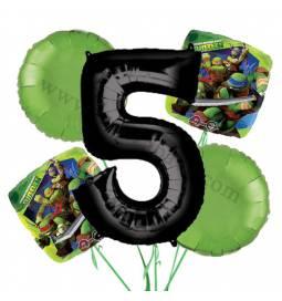 Ninja Želve balonska dekoracija, 4. rojstni dan