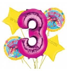 Troli balonska dekoracija, 2. rojstni dan