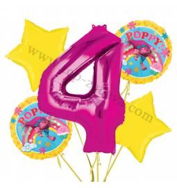 Troli balonska dekoracija, 3. rojstni dan
