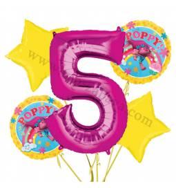 Troli balonska dekoracija, 4. rojstni dan